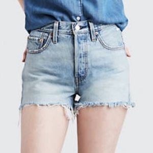 Mossimo Lite Wash High Rise Cut Off Jean Shorts